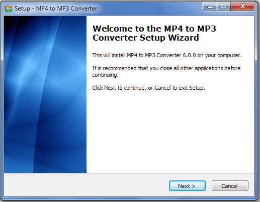 Install MP4 to MP3 Converter