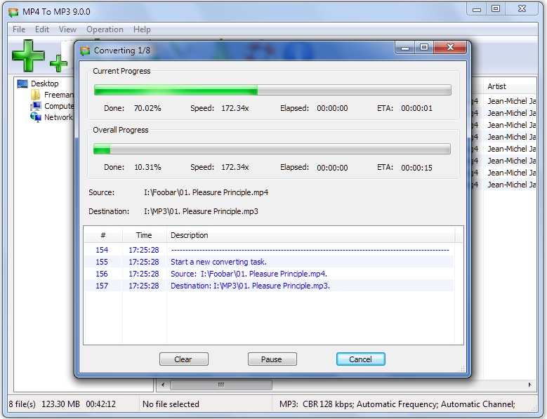 MP4 To MP3 9.0.9 Screen shot